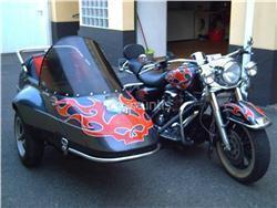 Preciosa Road King Electra Glide con Sidecar